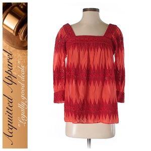 Milly   Cotton Crochet Detail Blouse Shirt